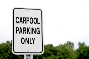 Carpool parking only sign
