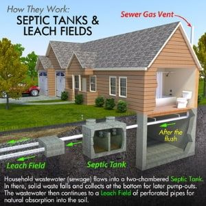 Septic tank & leach fields graphic